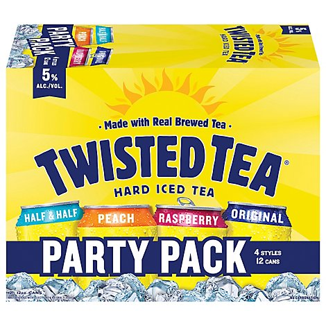 Twisted Tea Brewing Hard Iced Tea Variety Cans - 12-12 Fl. Oz.