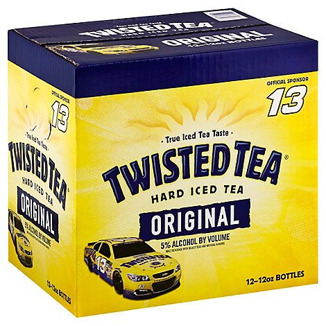 Twisted Tea Brewing Hard Iced Tea Lemon Tea Bottles - 12-12 Fl. Oz.