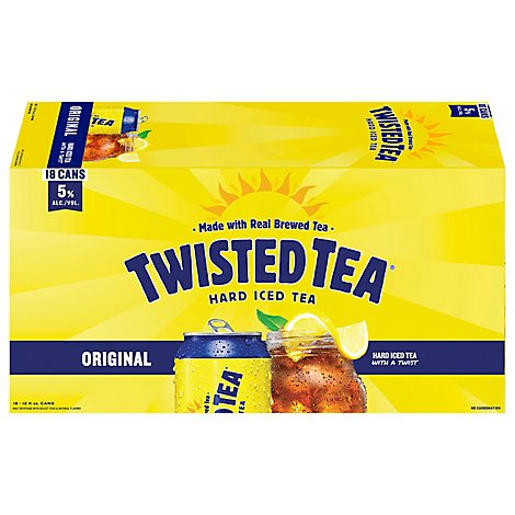 Twisted Tea Brewing Hard Iced Tea Lemon Tea Cans - 18-12 Fl. Oz.