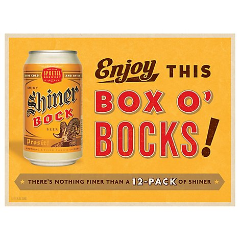 Shiner Bock Cans - 12-12 Fl. Oz.