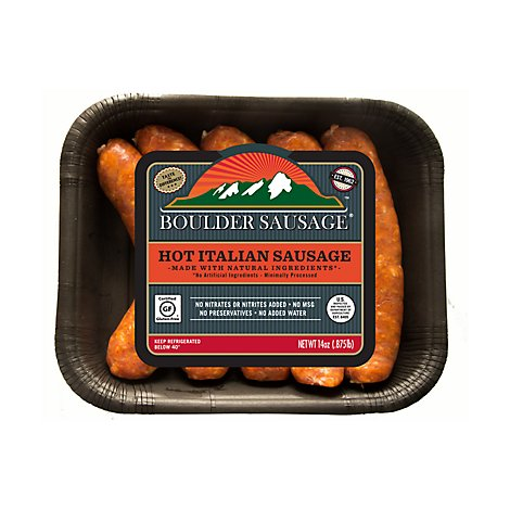 Boulder Sausage Italian Hot Links - 14 Oz