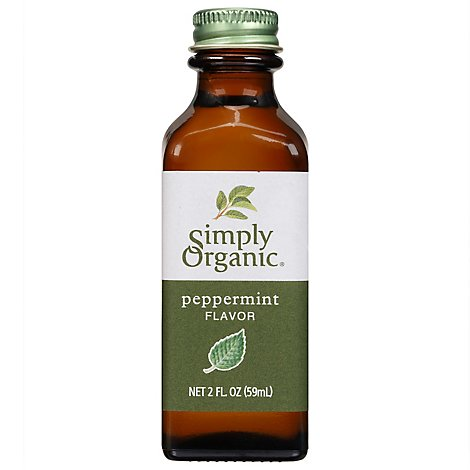 Simply Organic Peppermint Flavor - 2 Oz
