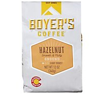 Boyers Coffee Coffee Ground Light Roast Hazelnut - 12 Oz