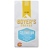 Boyers Coffee Coffee Ground Medium Roast Colombian Decaf - 12 Oz