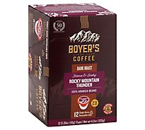 Boyers Coffee Coffee Single Serve Cups Rocky Mountain Thunder - 12 Count