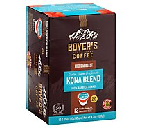 Boyers Coffee Coffee Single Serve Cups Kona Blend - 12 Count