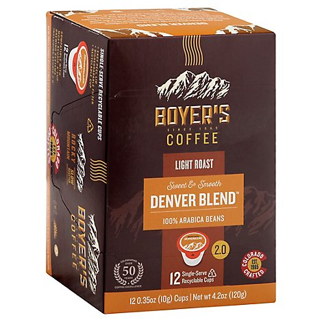 Boyers Coffee Coffee Single Serve Cups Denver Blend - 12 Count