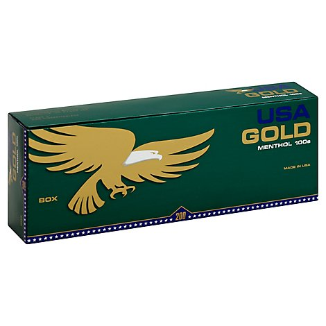 Usa Gold Menthol Dark Green 100s Box Fsc - Carton