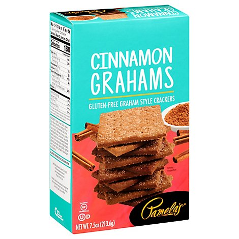 Pamelas Graham Style Crackers Gluten-Free Cinnamon Grahams - 7.5 Oz