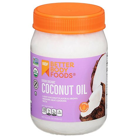 BetterBody Foods Coconut Oil Organic Virgin - 14 Fl. Oz.