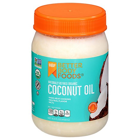 BetterBody Foods Coconut Oil Organic Refined - 14 Fl. Oz.