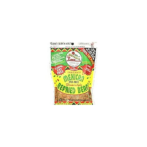 Mexicali Rose Beans Refried Instant Homestyle Fat Free Bag - 6 Oz