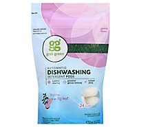 Grab Green Dishwashing Detergent Pods Automatic Thyme with Fig Leaf 24 Count - 15.2 Oz