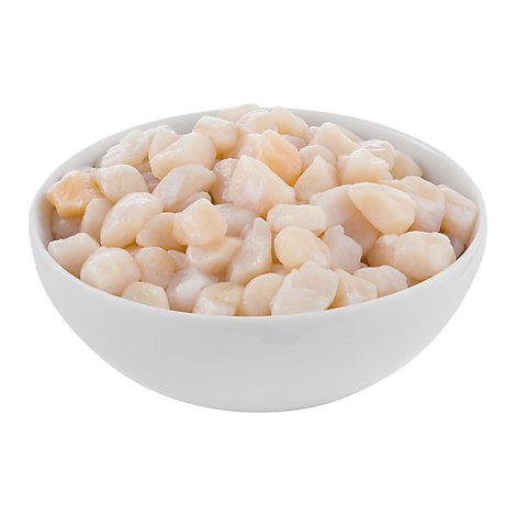 Seafood Counter Scallops Sea 120 And Up Ct Frozen Service Case - 1.00 LB