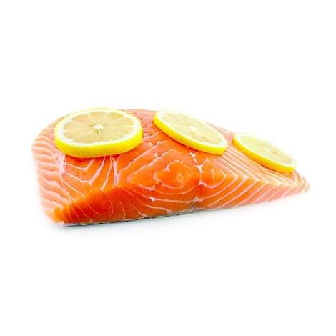 Seafood Counter Fish Salmon Atlantic Portion Fresh Color Added Service Case - 0.50 LB
