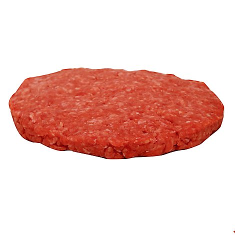 Meat Counter Beef Ground Beef Patties 80% Lean 20% Fat Plain Service Case 1 Count - 6 Oz