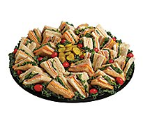 Deli Catering Tray Finger Sandwiches With Sliced Meat - 12-16 Servings