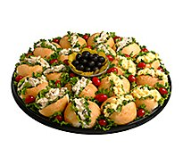 Deli Catering Tray Club Sandwiches With Salad - 10-12 Servings