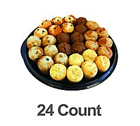 Bakery Muffins Assorted Mini Party Tray 24 Count - Each