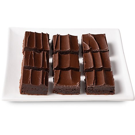 Bakery Brownie Fudge Iced 9 Count - Each