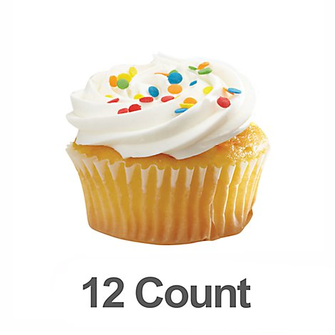 Bakery Cupcake White 12 Count Frozen - Each