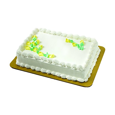 Bakery Cake 1/4 Sheet Celebration Cake Buttercream Icing - Each