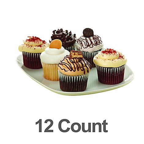 Bakery Cupcake Craveable Assorted 12 Count - Each
