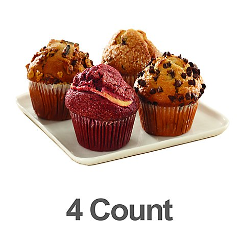 Fresh Baked Assorted Muffins - 4 Count