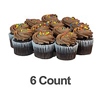 Bakery Cupcake Chocolate Chocolate Buttercream 6 Count - Each