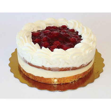 Bakery Cake 8 Inch Boston Cream Cherry With Whip - Each
