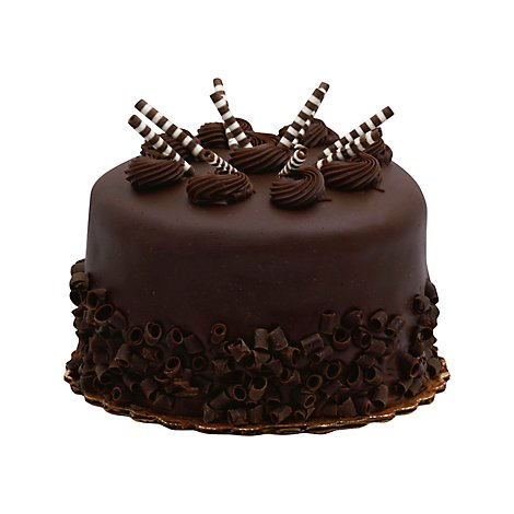 Bakery Cake 8 Inch 2 Layer Chocolate Enrobed - Each
