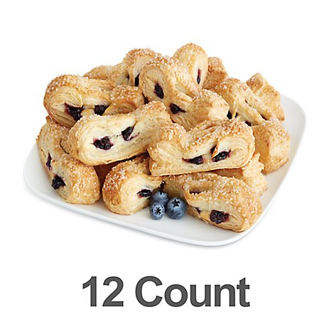 Bakery Mini Blueberry Cheese Strudel - 12 Count