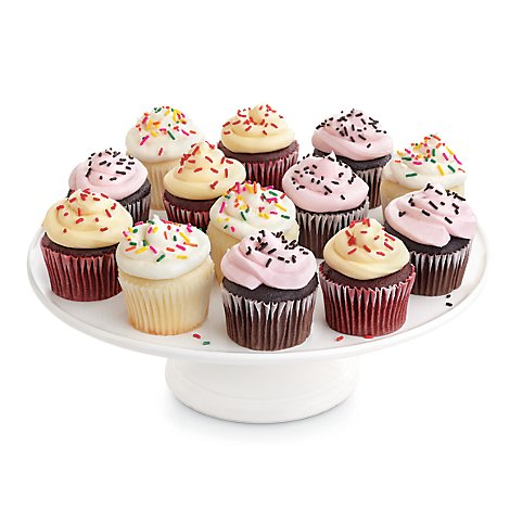 Bakery Cupcake Classic Assorted With Buttercream 24 Count - Each