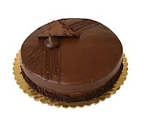 Bakery Cake 8 Inch 1 Layer Chocolate Fudge - Each