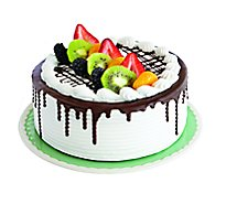 Bakery Cake 8 Inch Tres Leches Decorated - Each