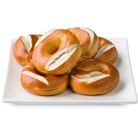 Bakery Bagels Pretzel - 6 Count
