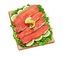 Seafood Service Counter Steelhead Portions 5 Ounce Fresh