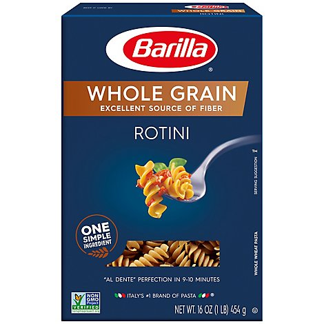 Barilla Pasta Rotini Whole Grain Box - 16 Oz