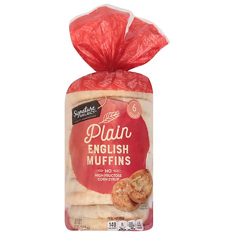 Signature SELECT English Muffins Select Plain - 6 Count