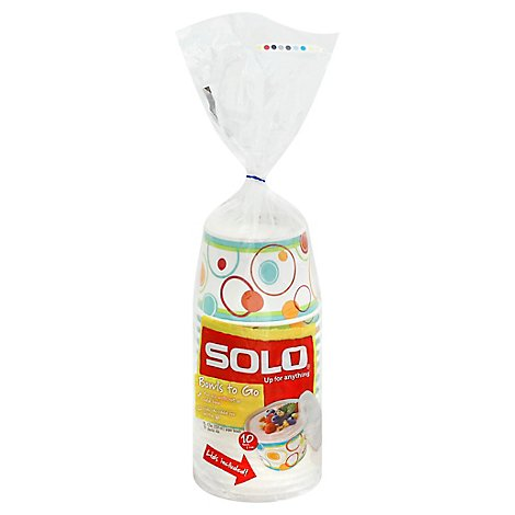 SOLO Bowls to Go with Lids 12 Ounce Bag - 10 Count