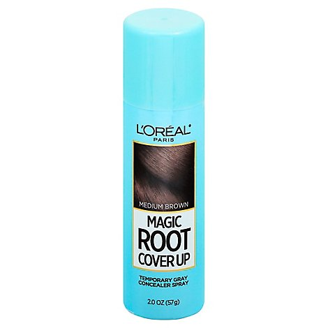 LOreal Hair Concealer Spray Magic Root Cover Up Medium Brown - 2 Oz