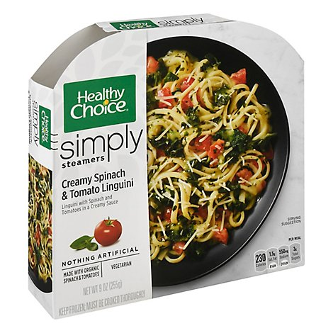 Healthy Choice Simply Steamer Creamy Spinach & Tomato Linguini - 9 Oz