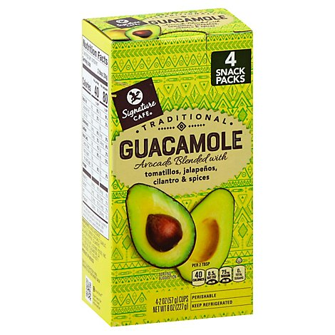Signature Cafe Guacamole Cups Traditional - 4-2 Oz