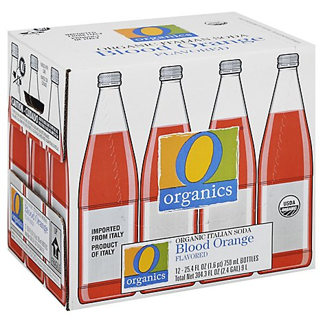 O Organics Organic Soda Orange Italian Blood - Case