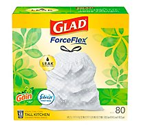 Glad Tall Kitchen Drawstring Gain Original Odor Shield 13 Gallon - 80 Count
