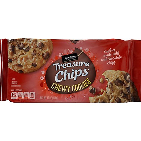 Signature SELECT Chewy Chocolate Chip Treasure Cookies - 13 Oz