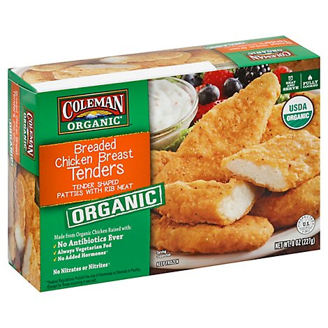 Coleman Organic Breaded Chicken Breast Tenders - 8 Oz