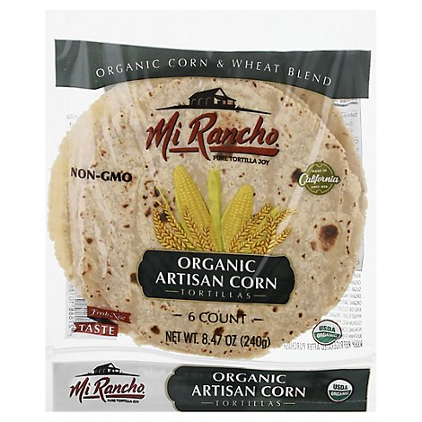 Mi Rancho Organic Tortilla Corn Artisan Bag 6 Count - 8.47 Oz