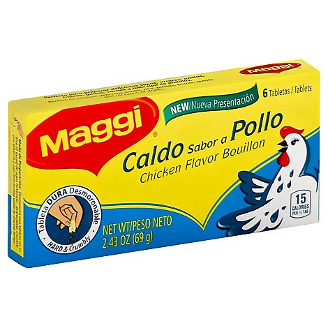 Maggi Bouillon Chicken Flavor 6 Count - 2.43 Oz