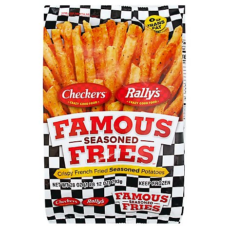Checkers and Rallys Famous Fries Potatoes Crispy French Fried Seasoned - 28 Oz